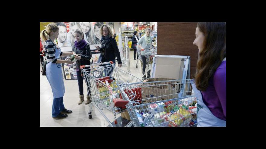 Video Potravinová sbírka předčila očekávání