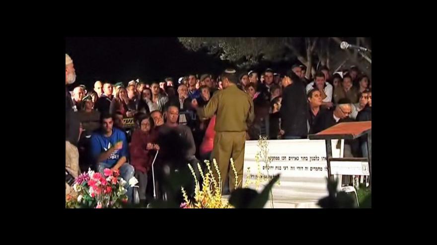 Video V Nazaretu pohřbili zavražděného izraelského vojáka
