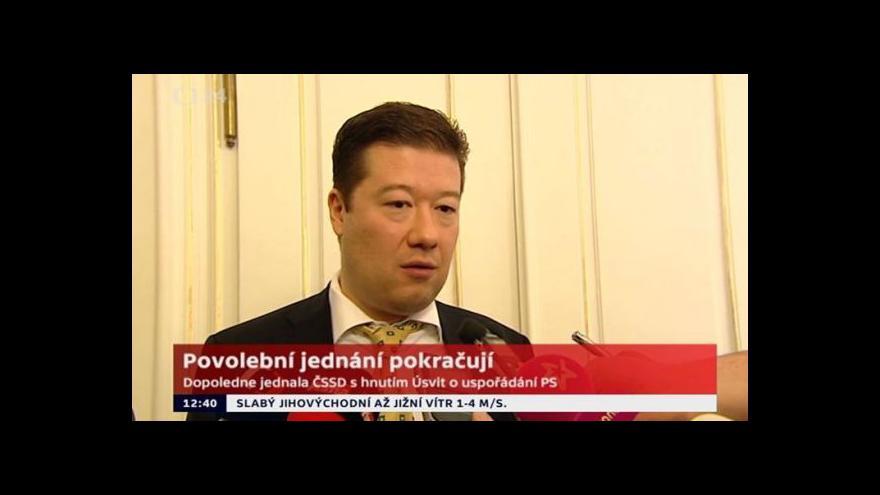 Video Tomio Okamura k povolebnímu jednání