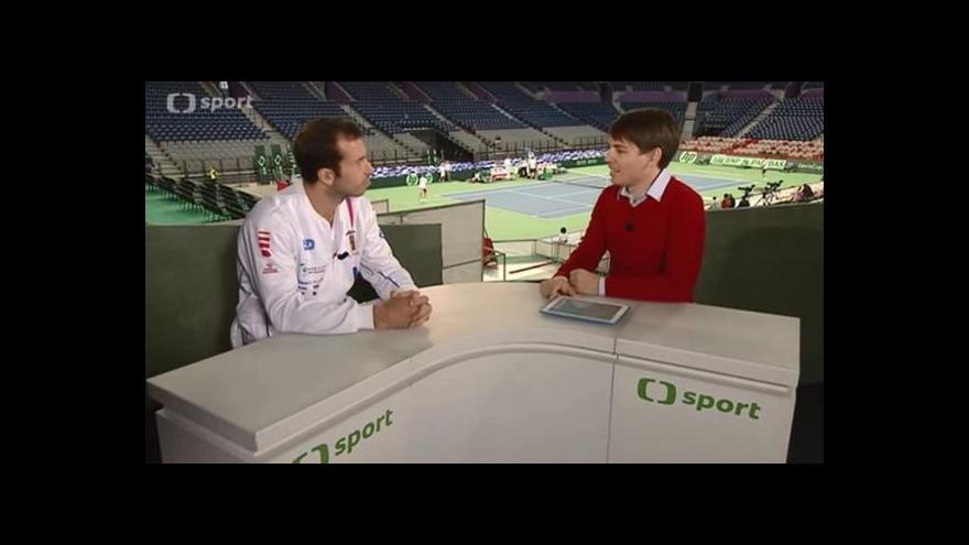 Video Rozhovor s Radkem Štěpánkem před finále Davis Cupu