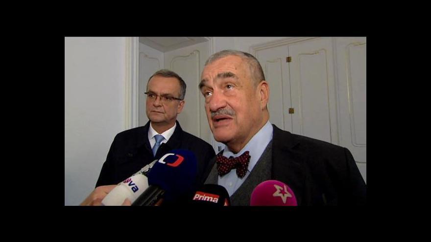 Video Vyjádření Karla Schwarzenberga po jednání o uspořádání sněmovny