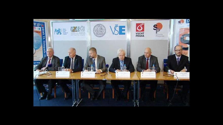 Video Rektoři pražských VŠ k financování vědy a výzkumu