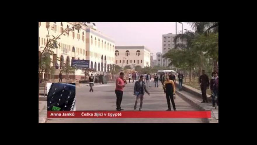 Video Telefonát Češky Anny Janků o zrušení výjimečného stavu v Egyptě