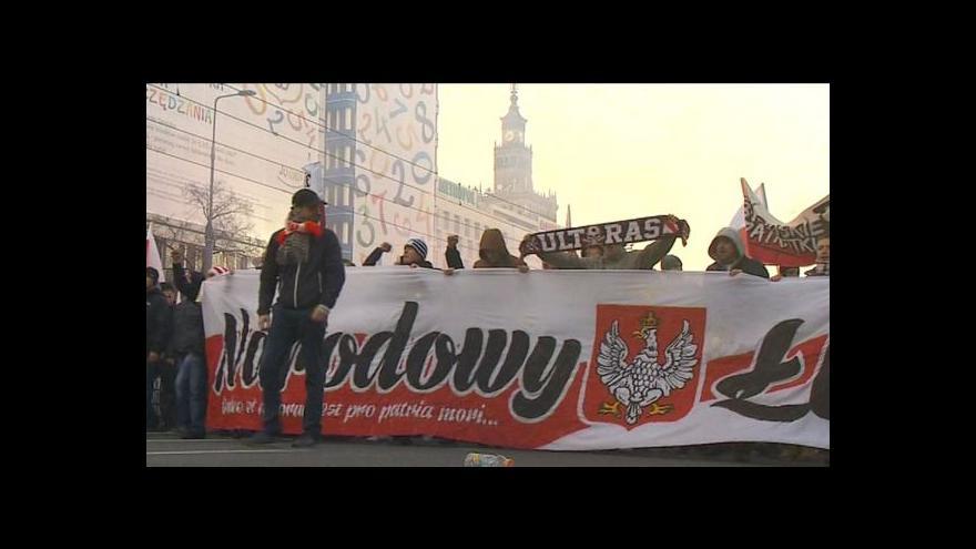 Video Nacionalisté pochodovali Varšavou