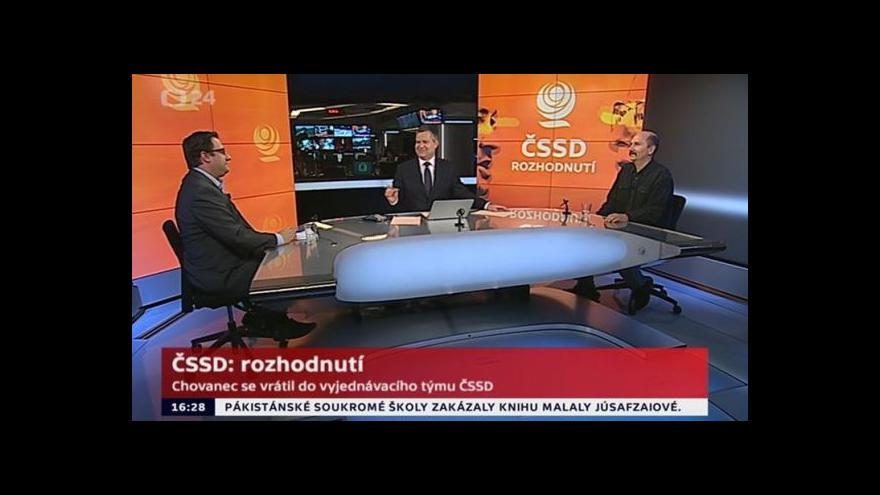 Video Petr Just a Petr Hartman k situaci v ČSSD