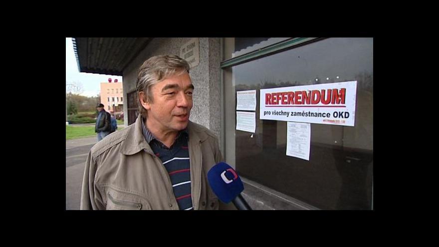Video V OKD končí referendum