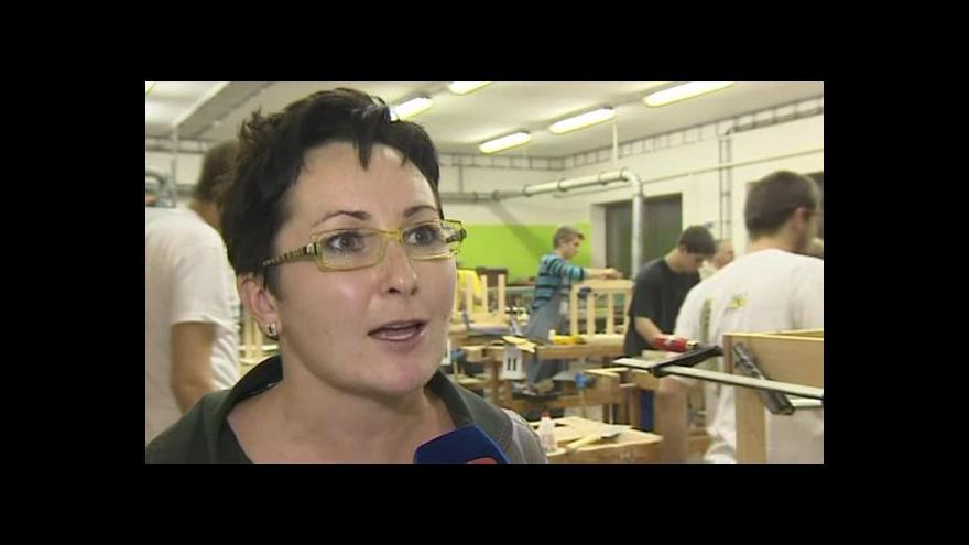 Video Klára Filipová o soutěži truhlářů