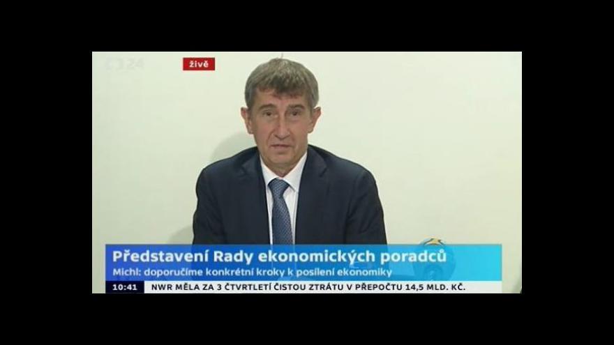 Video Brífink předsedy ANO 2011 Andreje Babiše k představení Rady ekonomických poradců
