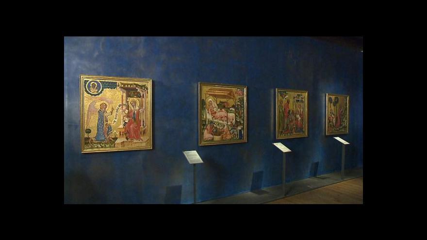 Video Národní galerie zatím Vyšebrodský oltář nevydá