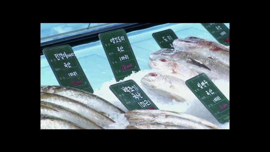 Video Prodej ryb v Soulu vázne