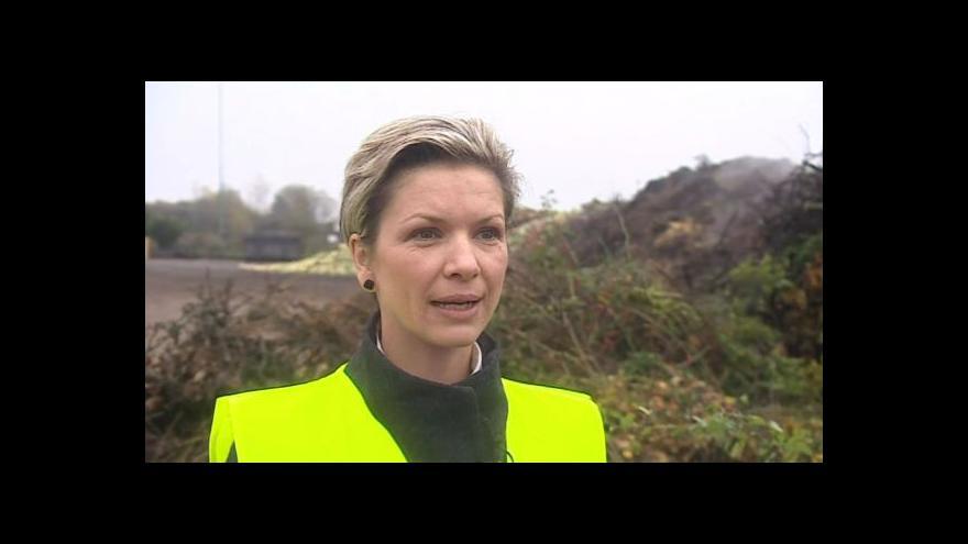 Video O zpracování listí hovoří mluvčí firmy SITA Kateřina Kodadová