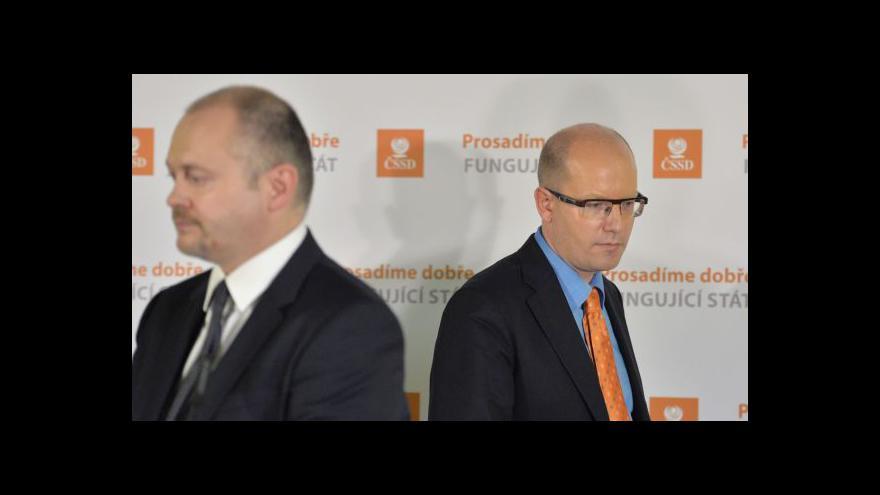 Video Krajské výbory ČSSD řeší situaci ve straně