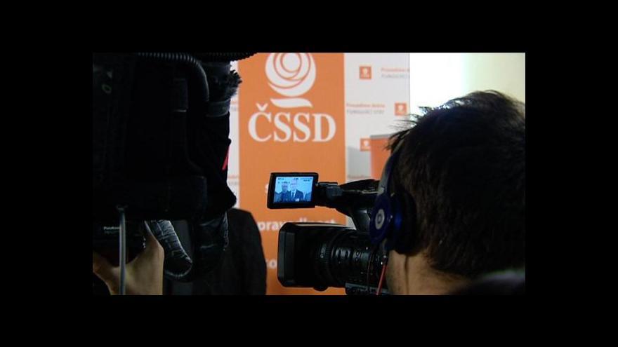 Video Sejdou se poslanci ČSSD