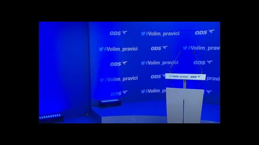 Video Brífink po výkonné radě ODS