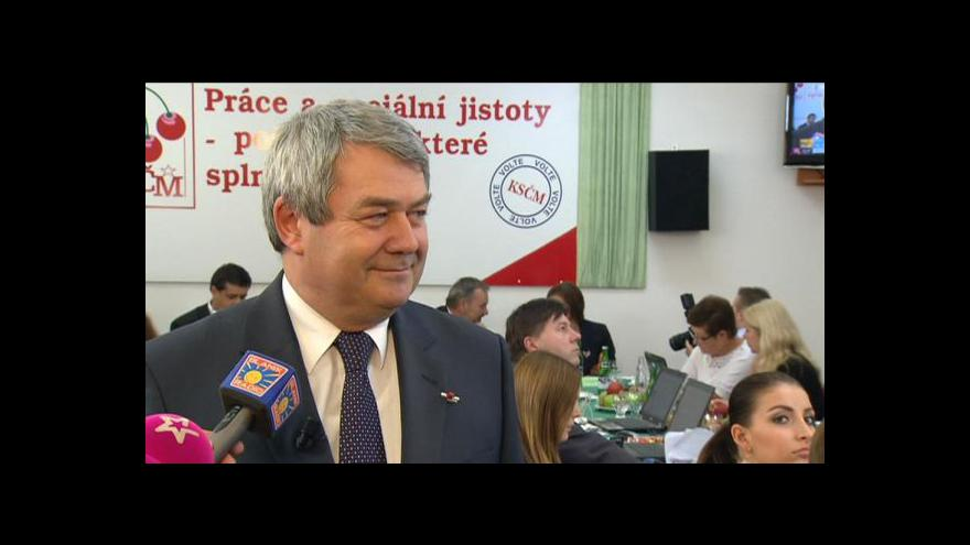 Video Vojtěch Filip k průběžným volebním výsledkům