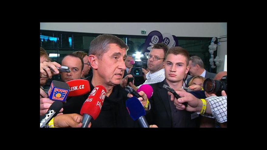 Video Andrej Babiš k předběžným výsledkům voleb