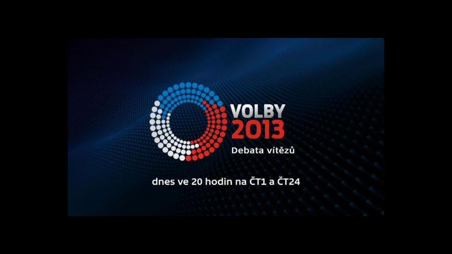 Video Upoutávka: Debata vítězů na ČT1 a ČT24
