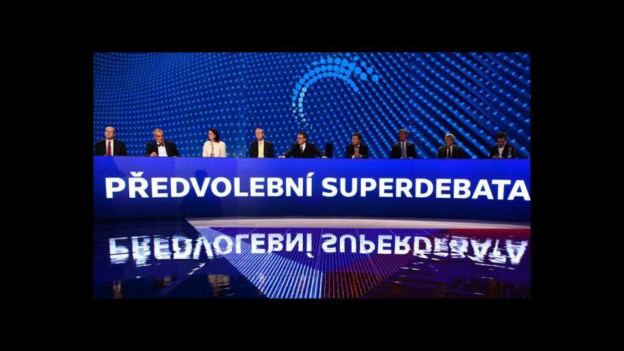 Video Předvolební superdebata