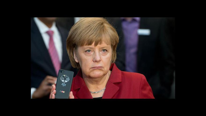 Video Merkelová označila odposlouchávání za nepřípustné