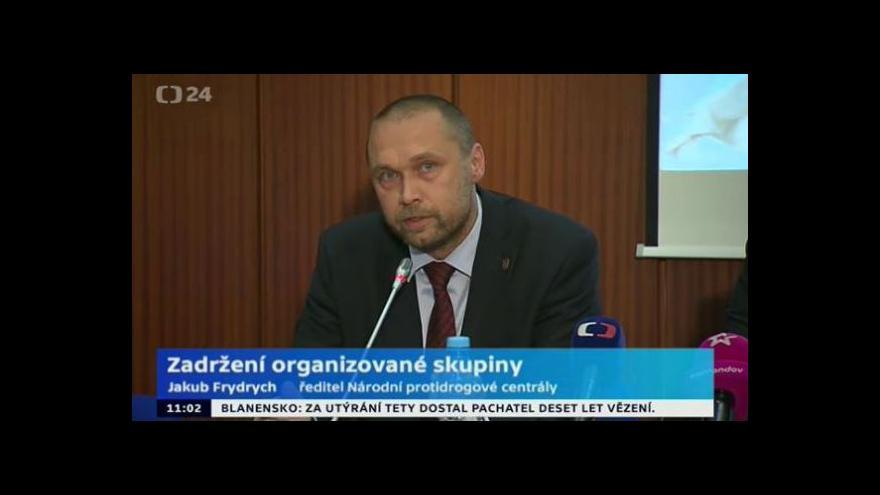 Video Brífink Národní protidrogové centrály, Policie ČR a Generálního ředitelství cel