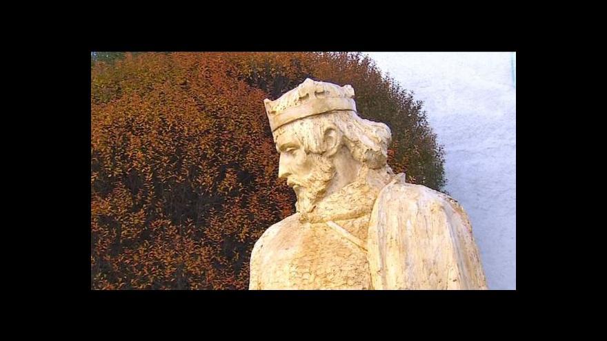 Video Socha Přemysla Otakara II. v Českých Budějovicích
