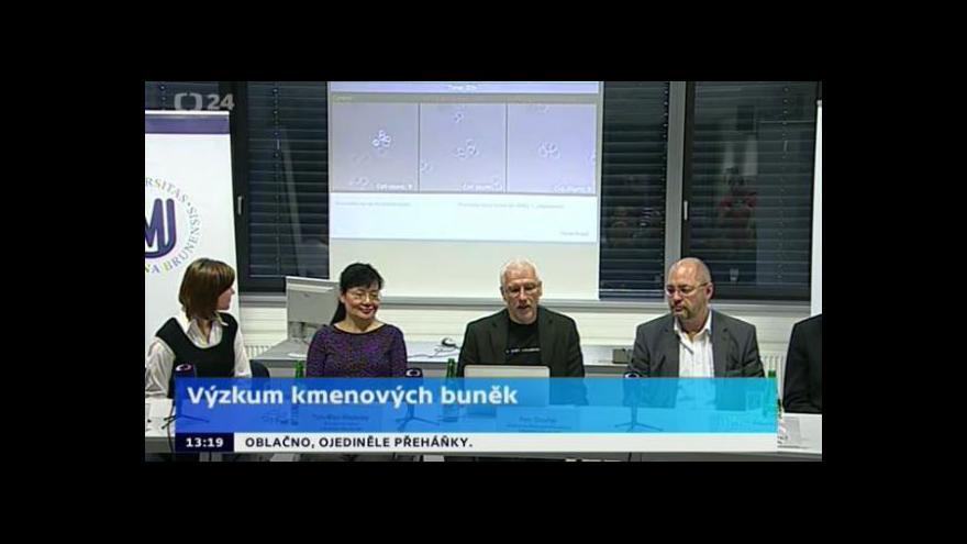 Video Brífink Lékařské fakulty Masarykovy univerzity k výzkumu kmenových buněk
