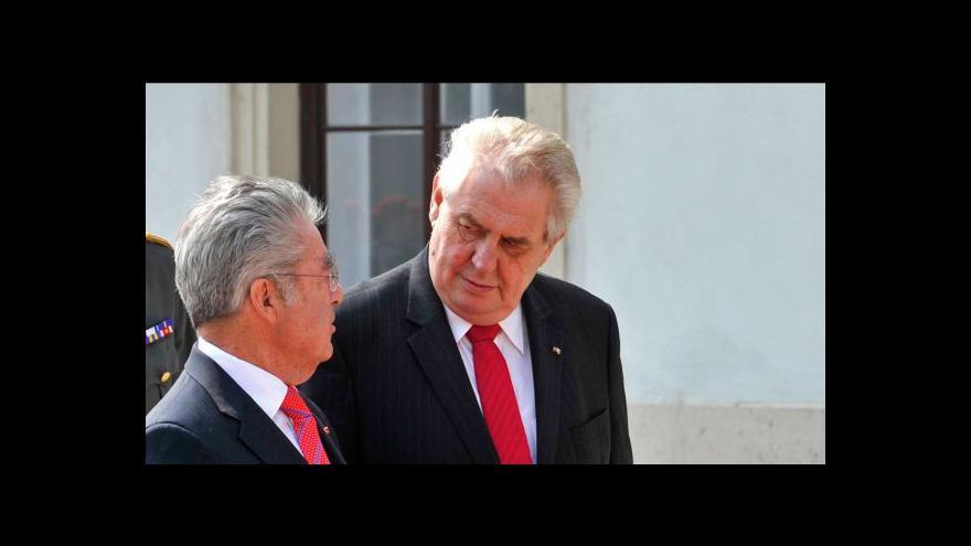 Video Zeman se setká s rakouským prezidentem Fischerem