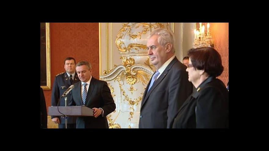 Video Prezident Zeman jmenuje nové soudce