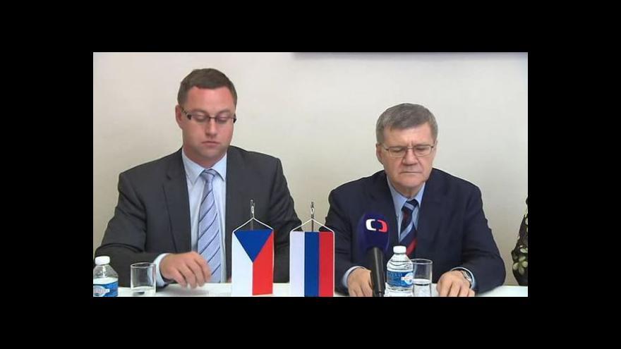 Video Brífink nejvyššího státního zástupce Zemana a ruského generálního prokurátora Čajky
