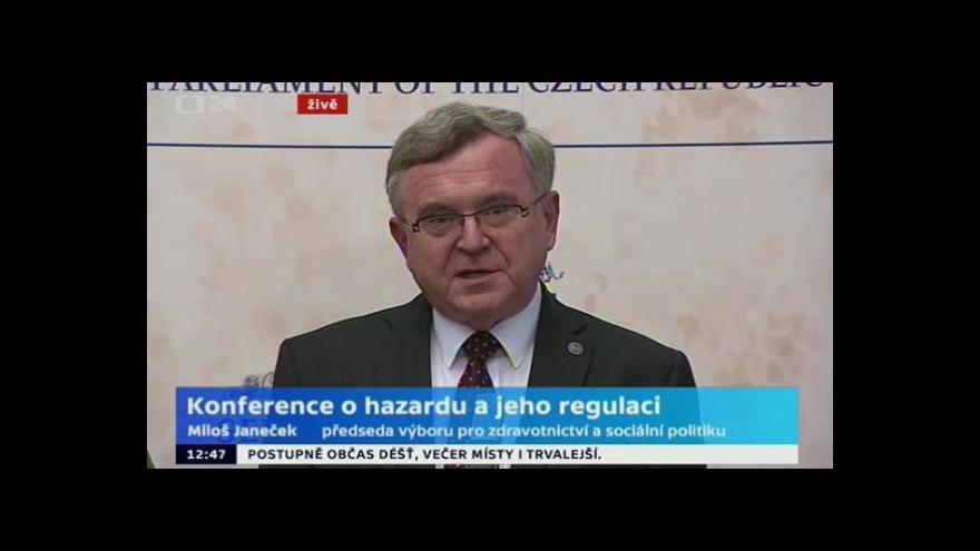 Video Brífink po skončení konference o hazardu v Senátu