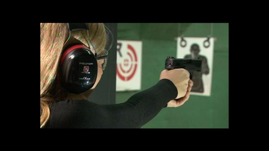 Video Ivana Šmelová na střelnici