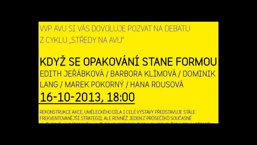 Video Záznam: debata z cyklu Středy na AVU