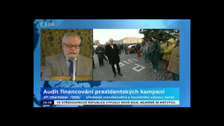 Video Brífink mandátového a imunitního výboru k auditu financování prezidentských kampaní