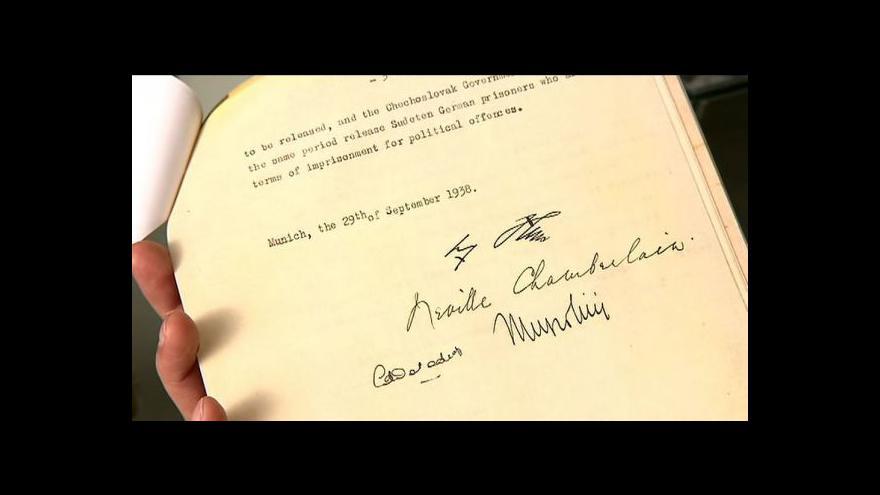 Video Uplynulo 75 let od Mnichovské dohody