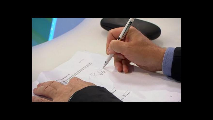 Video Brífink k podpisu smlouvy mezi Českou televizí a ČOV