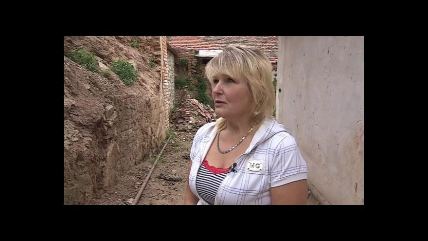 Video Bohuslava Voldánová popisuje svůj strach z dalšího sesuvu