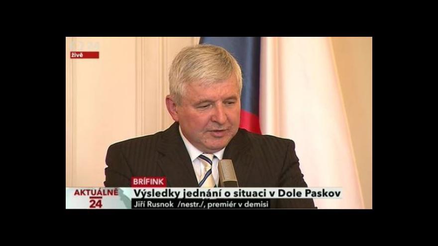 Video Výsledky jednání o situaci v Dole Paskov