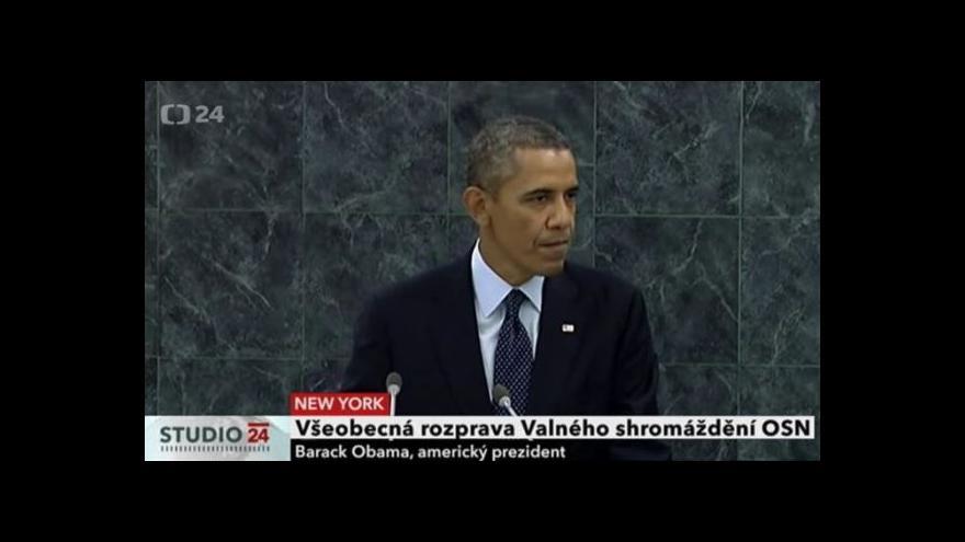 Video Projev Baracka Obamy na Valném shromáždění OSN
