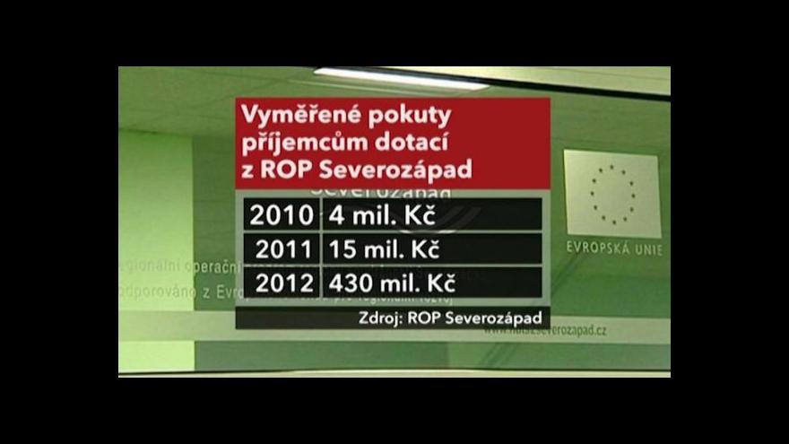 Video Pokuty pro příjemce evropských dotací