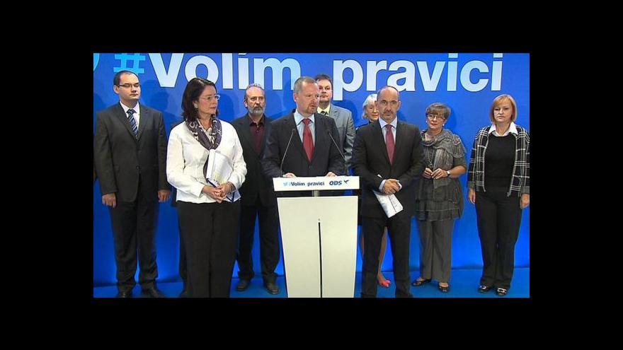 Video Brífink ODS k další části volebního programu
