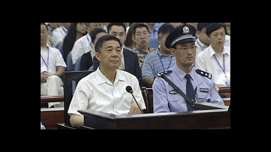 Video Soud v Ťi-nanu odsoudil Po Si-laje na doživotí