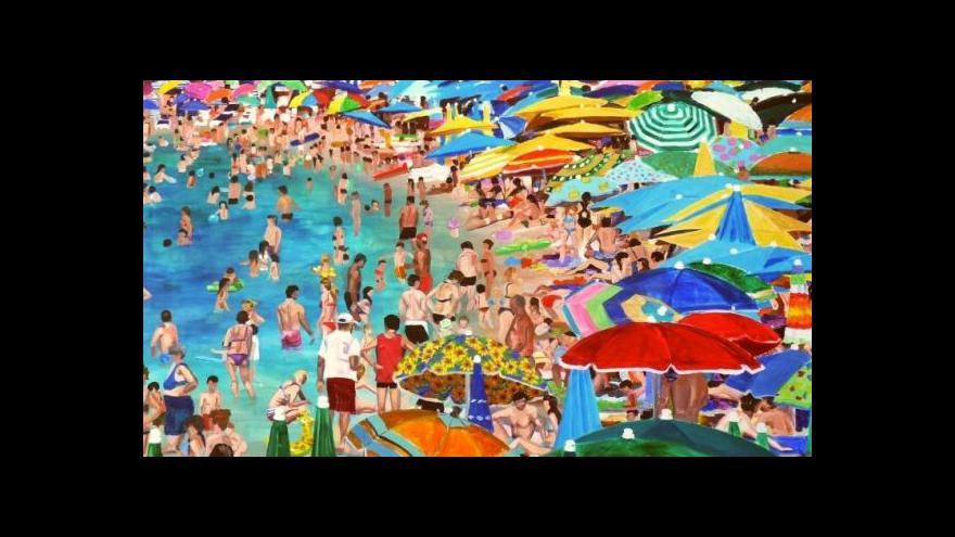 Video Daria Novotná popisuje jeden ze svých obrazů