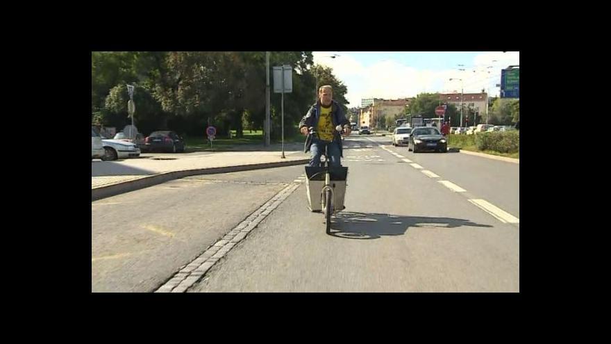 Video Cyklodopravu popisuje Martin Špaček ze sdružení Brno na kole