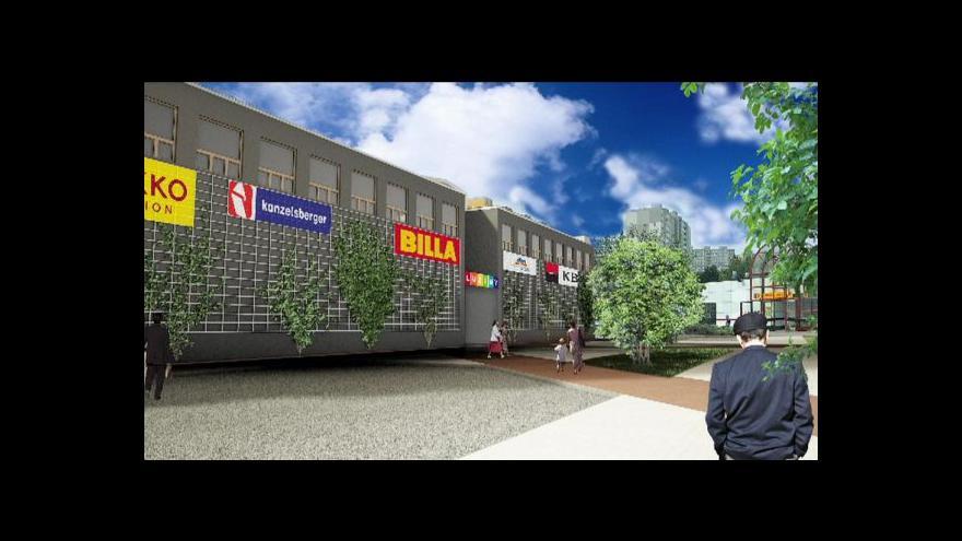 Video Praha 13 chce zabránit výstavbě obřího centra u metra Lužiny