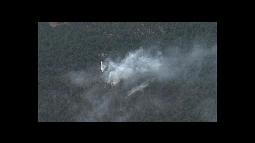 Video Letecké záběry lesního požáru u Bzence