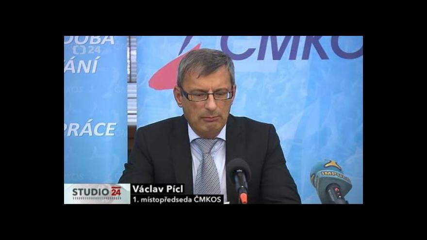 Video Brífink ČMKOS k parlamentním volbám