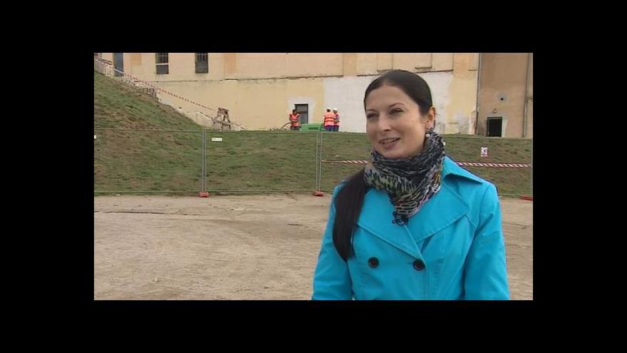 Video Mluvčí Znojma Zuzana Pastrňáková o rekonstrukci okolí rotundy