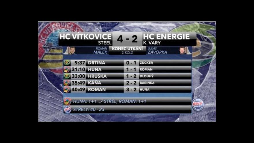 Video Sestřih a ohlasy z utkání Vítkovice - Karlovy Vary
