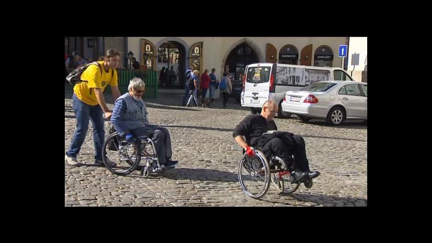 Video Vozíčkáři v Českém Krumlově