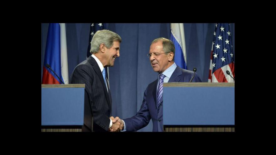 Video Události: Kerry a Lavrov jednají v Ženevě o situaci v Sýrii